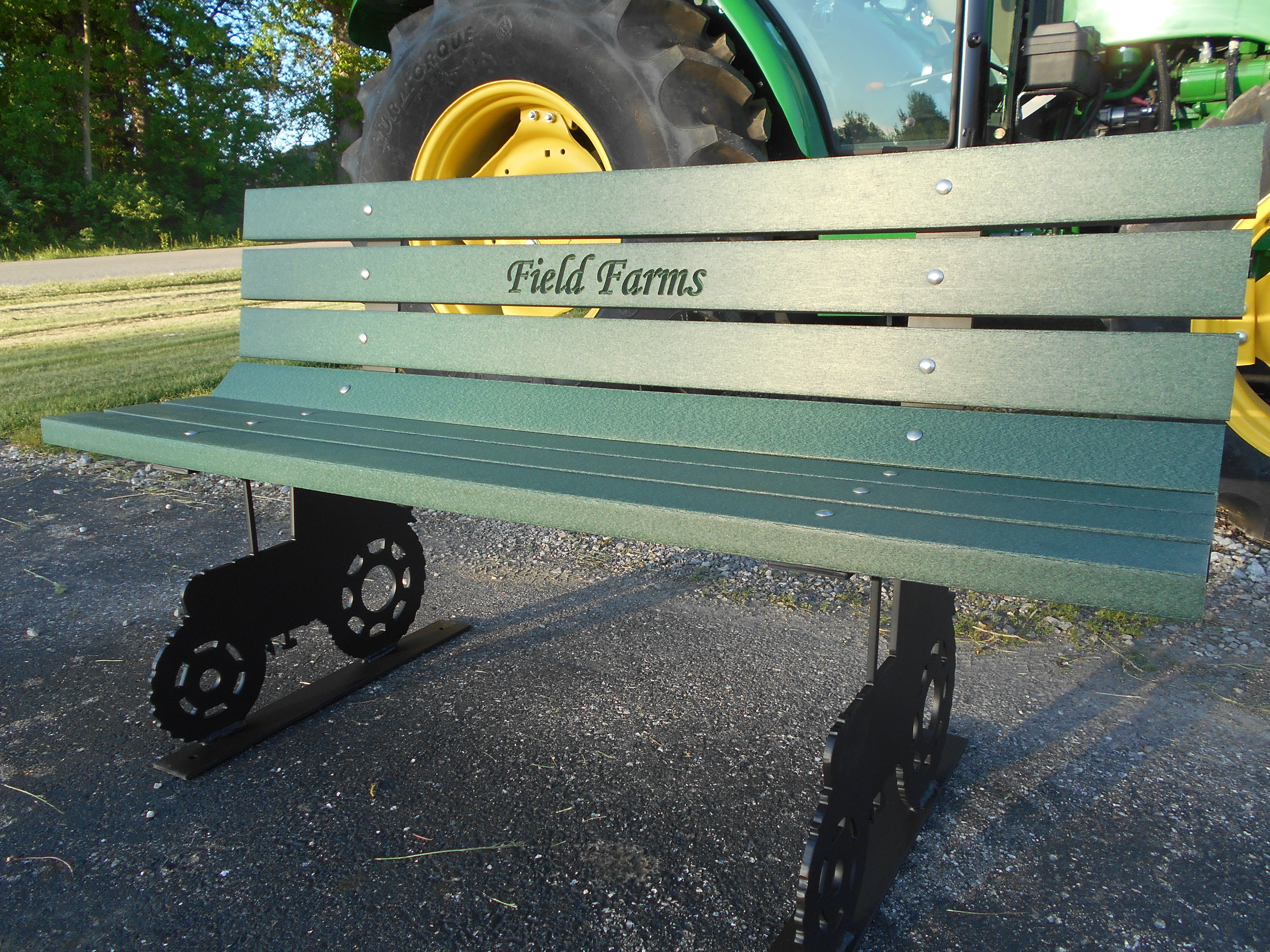 Tractor Frame Park Bench Wood Kits Park Benches Handcars Buckboard Benches