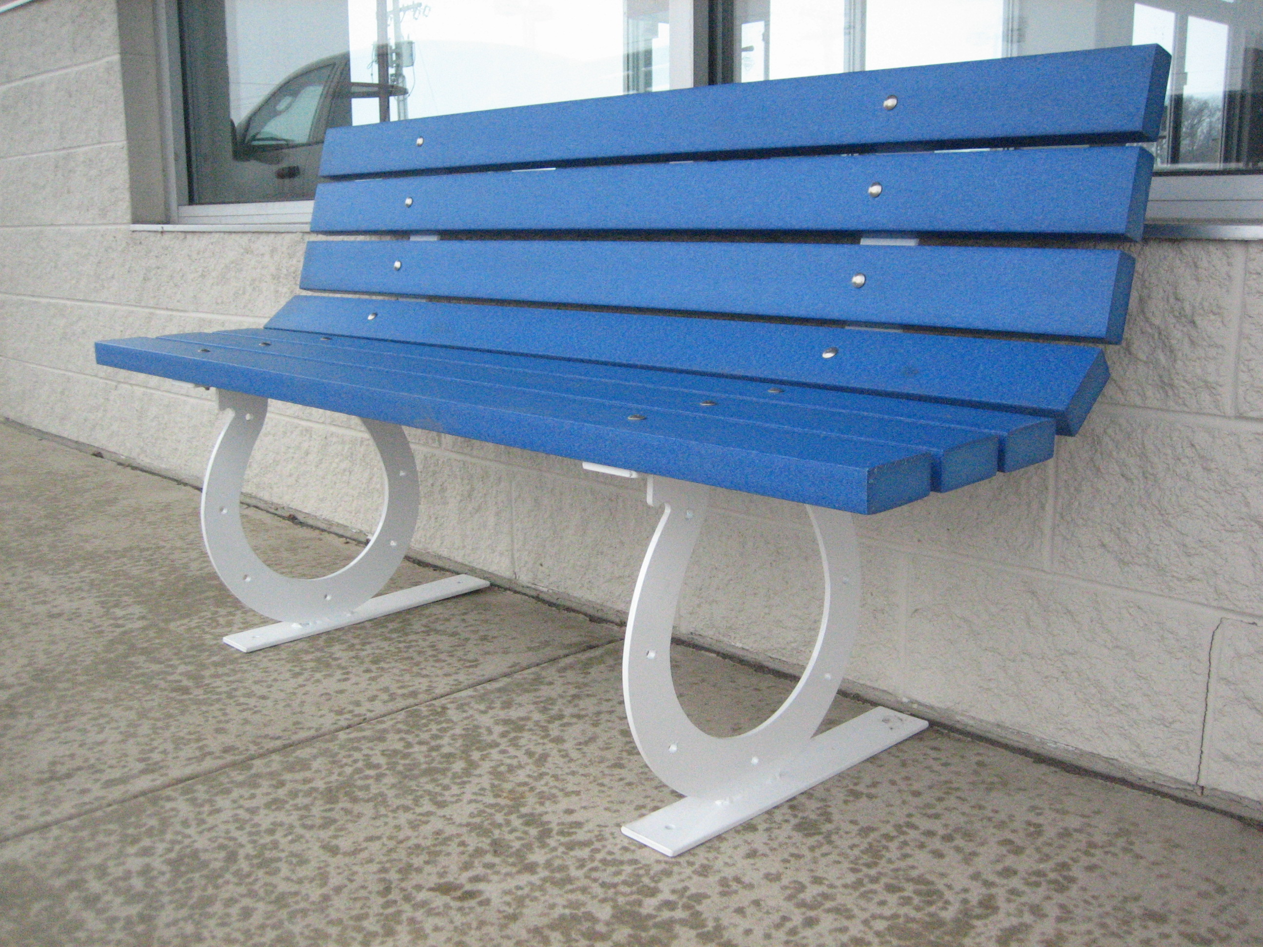 Horseshoe Frame Park Bench