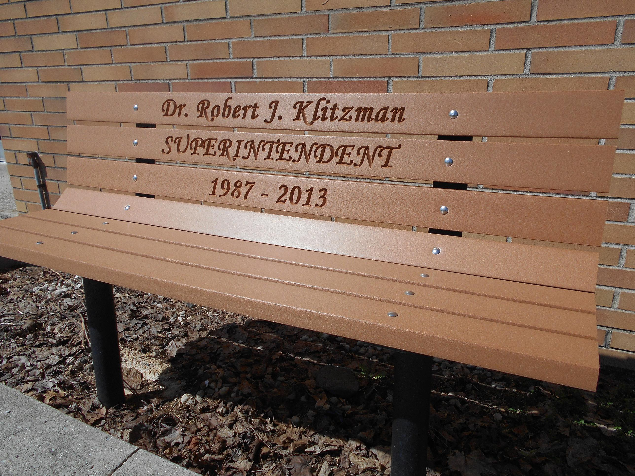 Memorial Park Bench with Permanent Post Frames