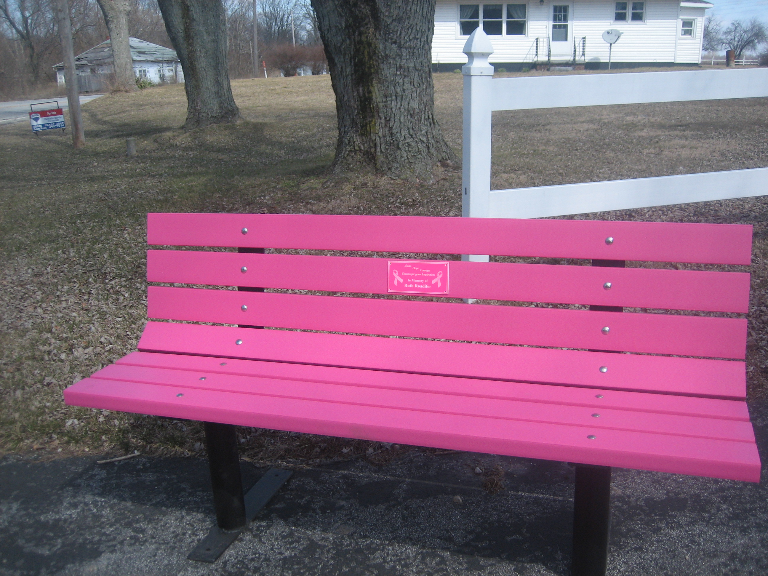 Buddy Bench Vibrant Pink Free Standing Frames Wood Kits Park Benches Handcars
