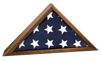 Rosewood Piano Finish Memorial Flag Display