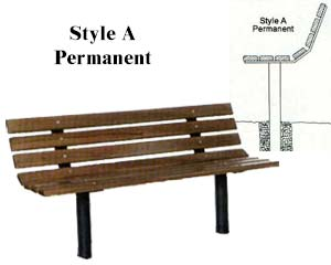Park Bench Frames Only Permanent Post