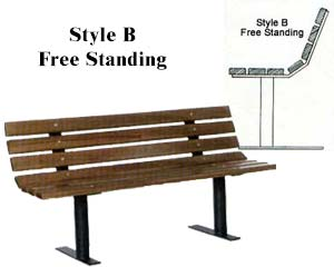 Park Bench Frames Only Free Standing