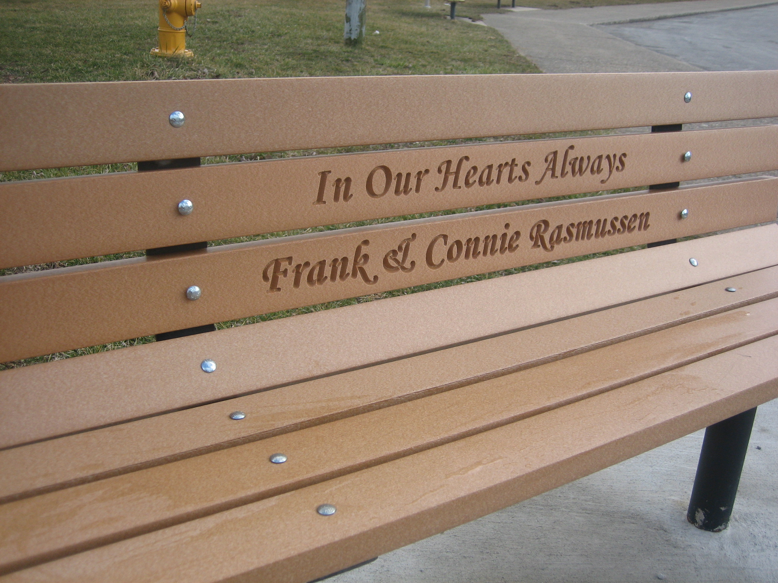 Memorial Park Bench With Permanent Post Frames Great Eagle Scout Wood Kits Park