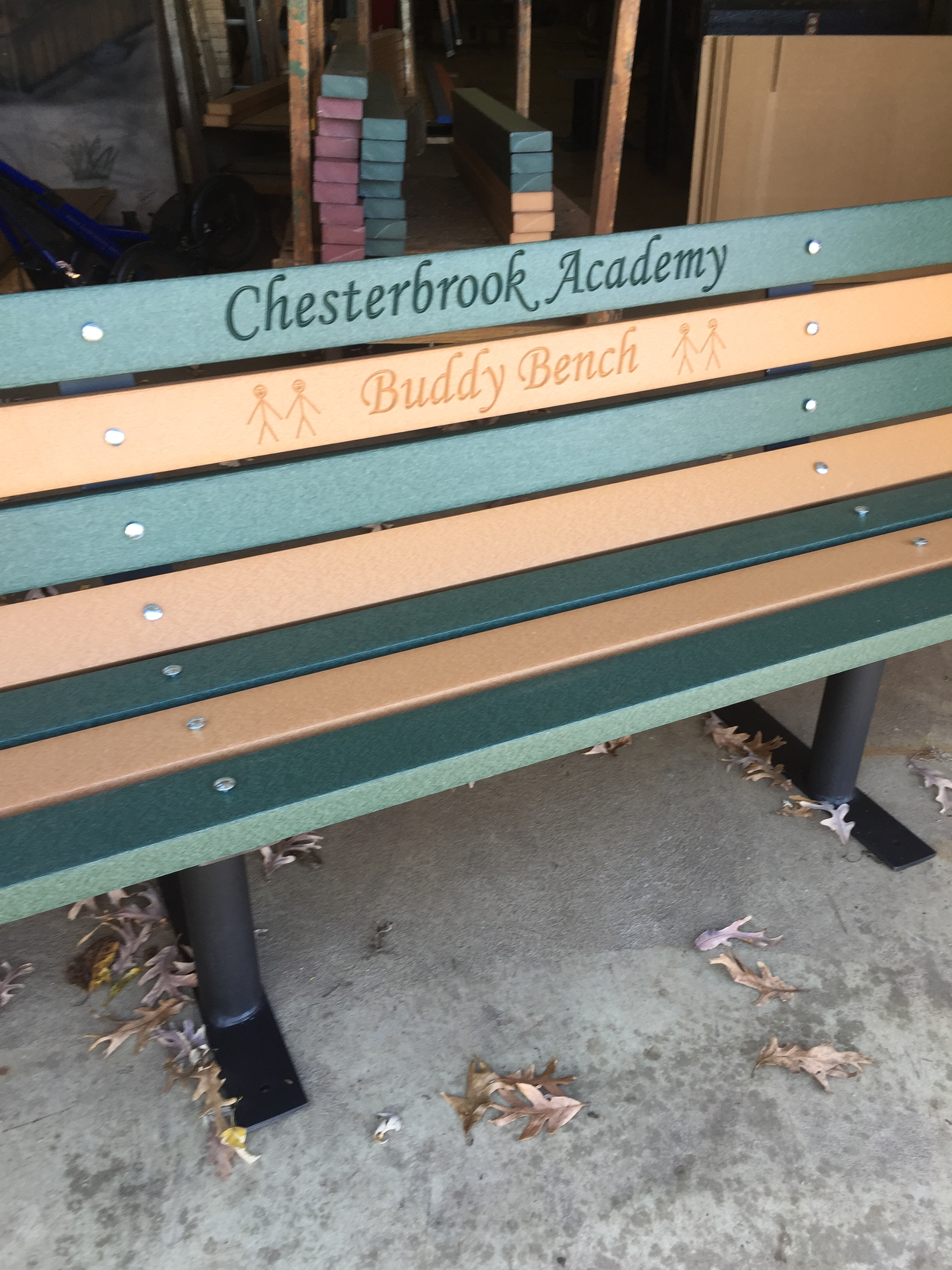 "Buddy Bench with Free Standing Frames ""Any Color"""