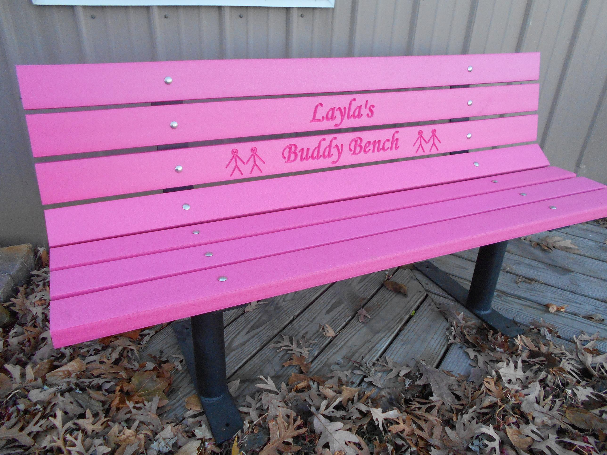"Buddy Bench Vibrant ""Pink"" Free Standing Frames"